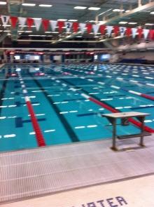The indoor 50m pool.