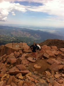 At the top of Pikes Peak! 14,110 feet above sea level!