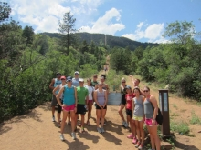 The base of The Incline - you can see how steep the path behind us is!
