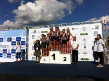 Women's Team Podium