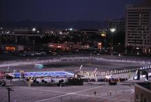 Parking lot set up in Vegas