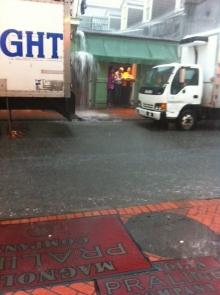 Flooding on Bourbon Street