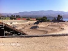 One of the BMX courses with the track and Otay Reservoir in the background