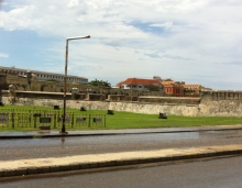 Venue! With scenic fort in background!