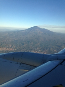 View of Mt. Etna from the airplane