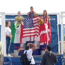 Cool to get to hold the American flag on the podium
